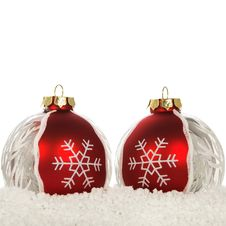 Free Xmas Decoration On The Snow On The White Royalty Free Stock Images - 21637559