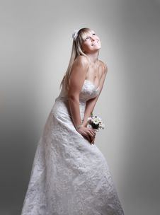 Free Beautiful Girl A Dreamy Bride Royalty Free Stock Image - 21639086