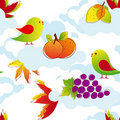 Free Colorful Autumn Leaves Seamless Pattern Stock Images - 21640664