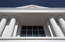 Classic Columns And Window Royalty Free Stock Photography