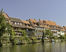 Free Bamberg River Houses Royalty Free Stock Photo - 21641305