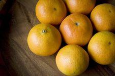 Group Of Fresh Oranges Stock Photo