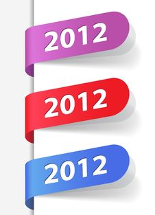 Free 2012 Labels Stock Images - 21642534