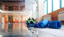 Equipment For Aqua Aerobics Royalty Free Stock Images
