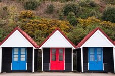 Free Colorful Beach Huts Stock Image - 21645671