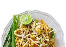 Thai Cuisine,Pad Thai Stock Photo