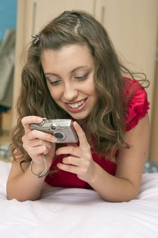Free Teen  With Digital Camera Royalty Free Stock Image - 21649806