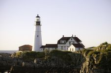 Free Portland Head Light Royalty Free Stock Images - 21653719