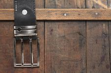 Free Belt On Wood Stock Photography - 21654732