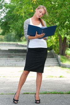 Business Woman With Documents Stock Image