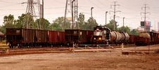 Free Steel Coil Train Yard Stock Image - 21656141