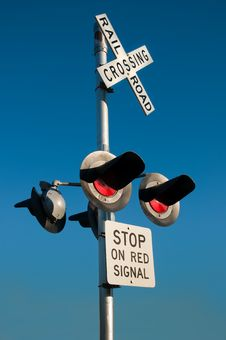 Free Overhead Railroad Crossing Stock Photos - 21656173