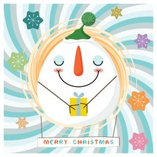Free Christmas Snowman Royalty Free Stock Photos - 21659318