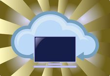 Free Cloud Computing Concept Royalty Free Stock Photo - 21659795