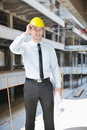Free Architect On Construction Site Royalty Free Stock Photo - 21661815