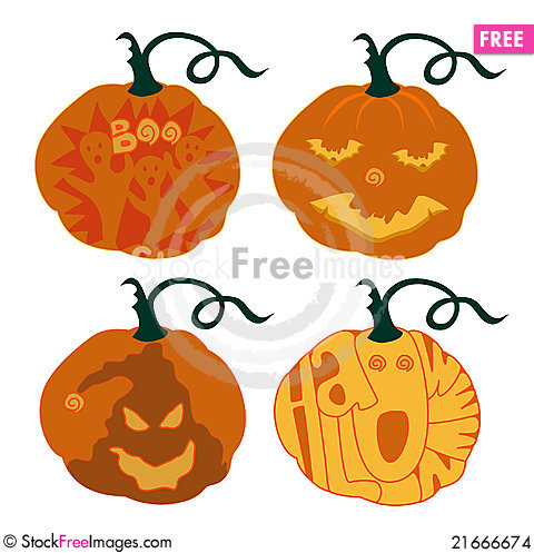 Free Halloween Pumpkins Stock Images - 21666674