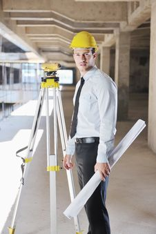 Free Architect On Construction Site Stock Photography - 21661912