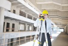Free Architect On Construction Site Stock Image - 21662311