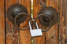 Free Door Lock Royalty Free Stock Photo - 21662475