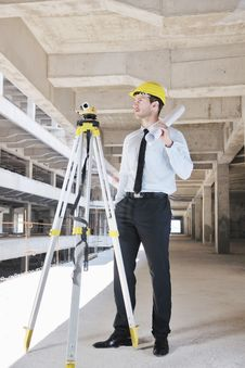 Free Architect On Construction Site Royalty Free Stock Photo - 21663195