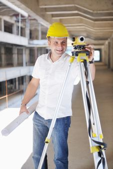 Free Architect On Construction Site Stock Photos - 21663363