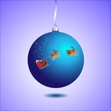 Free Blue Christmas Ball Royalty Free Stock Image - 21664686