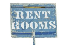 Free RENT ROOMS Sign Royalty Free Stock Photos - 21668128