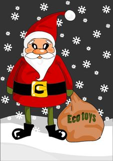Free Santa Claus With Eco Toys Stock Photography - 21668982