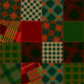 Free Seamless Patchwork Of Check Sguare Stock Image - 21670191