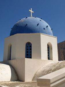 Blue And White Greek Church Royalty Free Stock Images