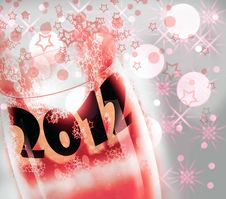 Free New Year 2012 Glass Cup Royalty Free Stock Photography - 21671917