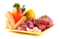Free Fresh Vegetables And Beef Royalty Free Stock Photo - 21672355