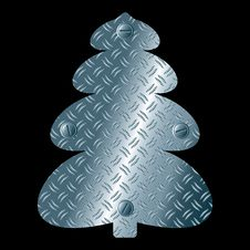 Free Abstract Steel Christmas Tree Royalty Free Stock Image - 21672496