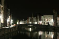Free Brugge By Night Stock Photography - 21674072