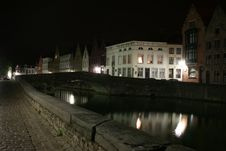 Brugge By Night Stock Photos
