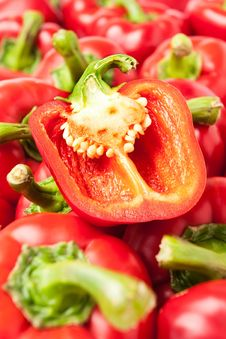 Free Cut Bell Pepper Royalty Free Stock Image - 21674906