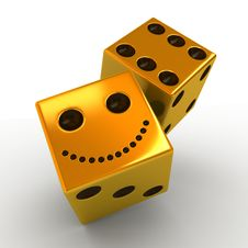 Free Golden Dice Royalty Free Stock Photos - 21675158