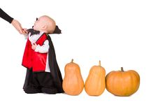 Free Halloween Baby Boy With Pumpking Royalty Free Stock Image - 21675416