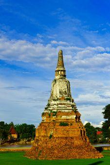 Old Pagoda In Ayothaya Stock Image