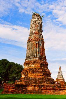 Old Pagoda In Ayothaya Royalty Free Stock Photo