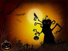 Halloween Dark Scenery Royalty Free Stock Photos
