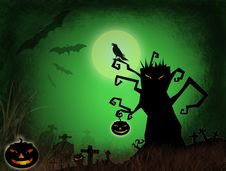 Free Halloween Dark Scenery Royalty Free Stock Photography - 21679127