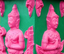 Buddhist Art Stucco Stock Photos
