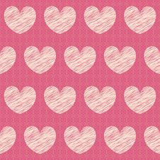 Free Vector Abstract Seamless Pattern With Hearts Stock Photos - 21680803
