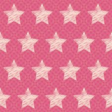 Free Vector Abstract Seamless Pattern With Stars Stock Images - 21680904