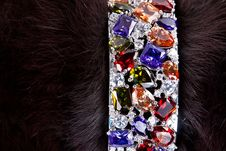 Free Bracelet With Precious Stones In A Fur Royalty Free Stock Images - 21681949