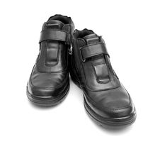 Free Pair Of Black Man S Boots Stock Photography - 21687232