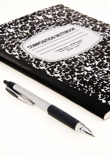 Free Comp Notebook And Pen Royalty Free Stock Photography - 21688747