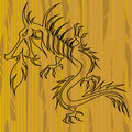 Free Dragon On Wood With Copy Space Royalty Free Stock Photos - 21693018
