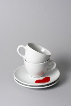 Free Stacked Teacups Royalty Free Stock Images - 21691469